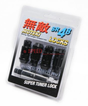 Picture of Muteki SR48 Lug Nuts : Black :  4pk Lock Set