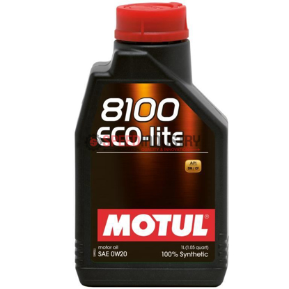 Picture of 0w20 - MOTUL Motor Oil - 8100 Series Eco  Size: 1L Bottle (1.05 qt)