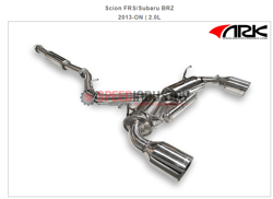 Picture of ARK DT-S Exhaust System POLISHED Tip Scion FRS/Subaru BRZ