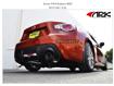 ARK Grip Cat-Back Exhaust System w/ Burnt Tips on Orange FRS