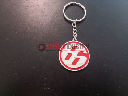 Picture of Toyota 86 'Medallion' JDM Red/Chrome Keychain