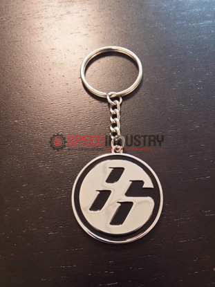 Picture of Toyota 86 'Medallion' JDM Black/Chrome Keychain