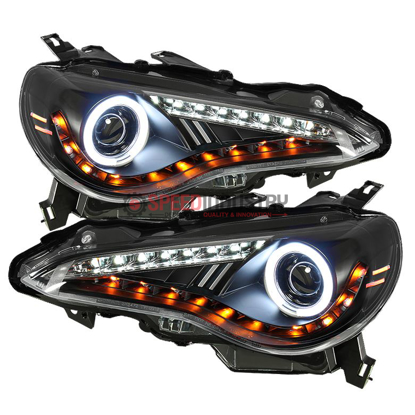 Picture of Spyder FRS Projector Headlights w/LED DRL (CCFL HALO)-Black