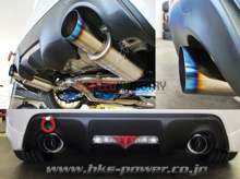 Picture of HKS Hi-Power Spec-L Burnt Tip Catback Light Weight Exhaust FRS/BRZ/86 - 32016-BT001