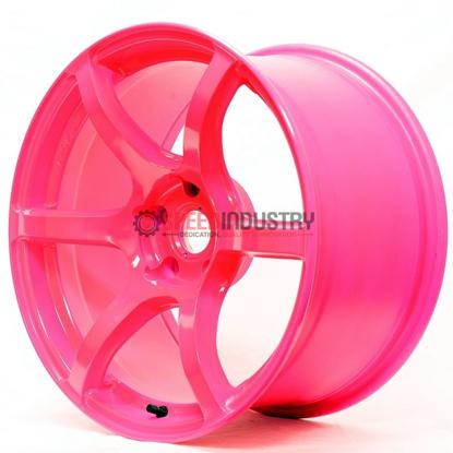 Picture of Gram Lights 57C6 18x9.5 5x100 +40 Luminous Pink Wheel