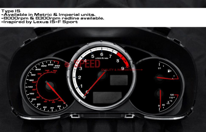 Picture of IS-F Style Magna Instruments Gauge Cluster Face - FRS / BRZ / 86