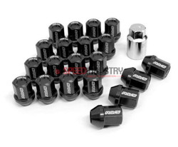 Picture of DURA-NUT L32 STRAIGHT TYPE 12X1.25  BLACK ALMITE