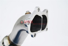 Picture of Invidia Polished Divorced Waste Gate Downpipe w/ O2 Bung - 2004+ STI