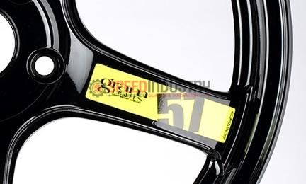 Picture of Gram Lights 57CR 57DR Wheel Spoke Sticker Luminous Yellow (2pcs)