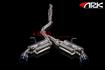 ARK Grip Cat-Back Exhaust System w/ Burnt Tips Black Background