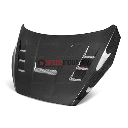Picture of Seibon 15-17 Ford Focus TV-Style Carbon Fiber Hood