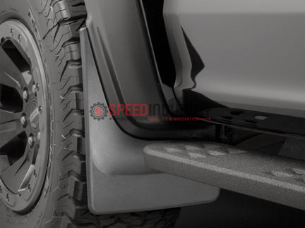 Picture of WeatherTech Front No Drill Mud Flaps Black Raptor 17+ - 110073