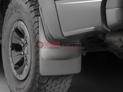 Picture of WeatherTech Rear No Drill Mud Flaps Black Raptor 17+ - 120073