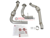 Picture of aFe Twisted Steel Down-Pipes (Street Series) Raptor 17+ - 48-43020-HC