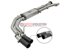 Picture of aFe Rebel Side Exit Black Tips Catback Exhaust Raptor 17+ - 49-43091-B