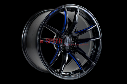 Picture of Weds RN-55M Black/Blue Machining 18x10 +36 5x112 A90 MKV Supra GR 2020+ (Rear Fitment)