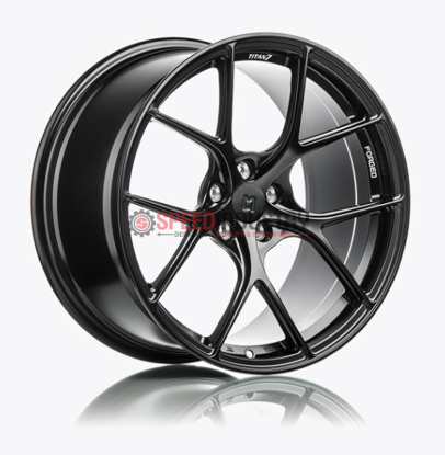 Picture of Titan 7 T-S5 18x9.5+40 5x114.3 Machine Black -WRX/STI