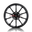 Picture of Titan 7 T-R10 18X9.5 +40 5x114.3 Machine Black- WRX/STI