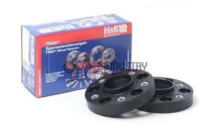 Picture of H&R Trak+ DR Black Wheel Spacers 3mm 5x112 (pair)
