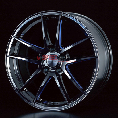 Picture of Weds RN-55M 18x7.5+45 5x100 Black Blue Machine