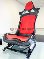 Picture of P2uned Carbon Seat with Suede Padding (Blue)-A90 MKV Supra GR 2020+