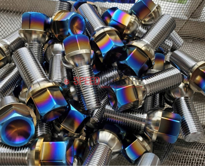Picture of P2uned Titanium Lug Bolt (Burnt) - A90 MKV Supra GR 2020+