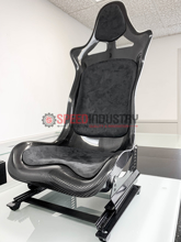 Picture of P2uned Carbon Seat with Suede Padding (Black)-A90 MKV Supra GR 2020+