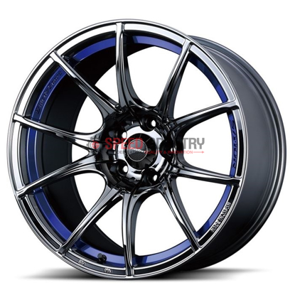 Picture of WedsSport SA10R 18x7.5 +45 5x114.3 Blue Light Chrome