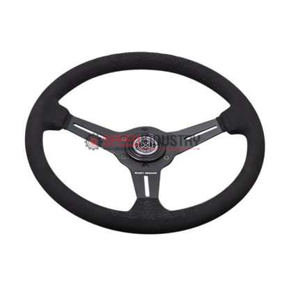 Picture of GReddy Boost Brigade Suede Steering Wheel