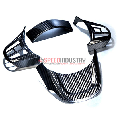 Picture of Revel GT Dry Carbon Steering Wheel Cover Inserts-GR Supra 20+