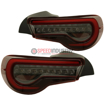 Picture of JDM VLAND Flat Bottom LED DRL Taillights (RED/CLEAR)- FRS/86/BRZ