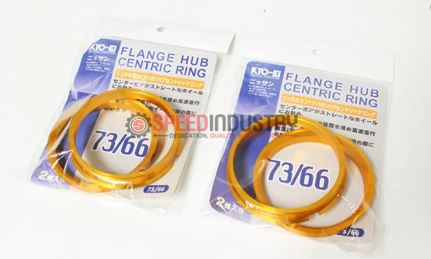 Picture of KYO-EI GOLD FLANGE HUB CENTRIC RING SET - OUTER 73MM 66