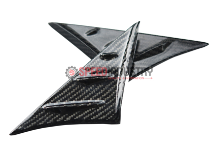 Picture of Rexpeed Anti-Buffeting Gloss Carbon Wind Deflectors-GR Supra 20+
