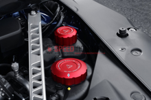 Picture of Blackline Red Coolant Cap Cover Set - 2020+ Toyota Supra