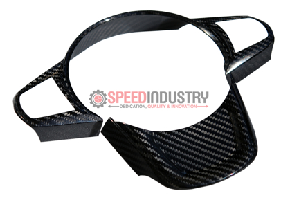 Picture of Rexpeed Gloss Carbon Fiber Steering Wheel Trim - A90 MKV Supra GR 2020+