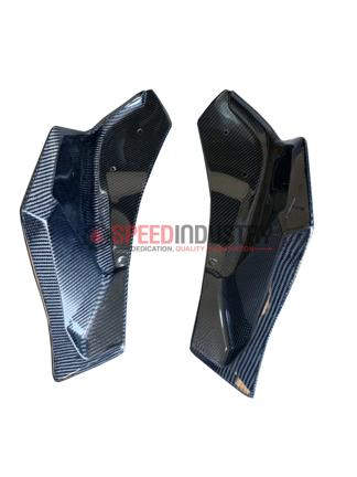Picture of Rexpeed V3 Matte Carbon Fiber Rear Bumper Side Spats - A90 MKV Supra GR 2020+