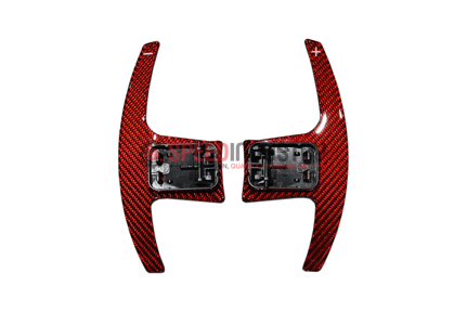 Picture of Rexpeed  Supra 2020+ Dry Carbon Steering Wheels Shift Paddles Full Replacement (RED)