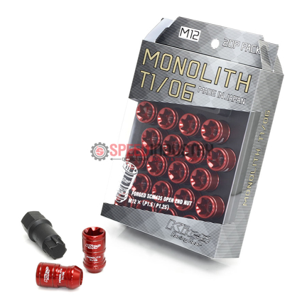 Picture of Project Kics Monolith TI/06 Lug Nuts - 12x1.25 (Red)