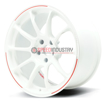 Picture of RAYS VOLK RACING ZE40 RW LIMITED - 18X9.5 +44 5X100 DASH WHITE/REDOT