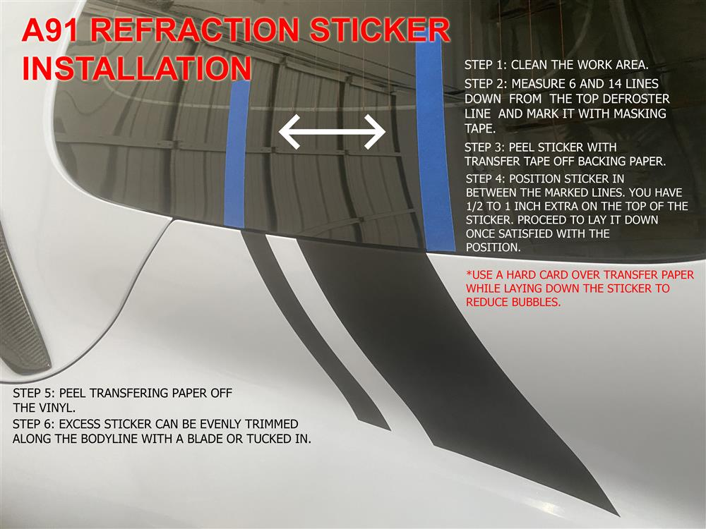 A91 Refraction Sticker Kit instructions